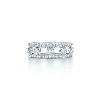 Kwiat 18K White Gold Stackable Diamond Band, 0.78cttw