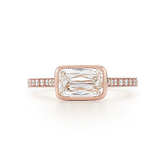 Kwiat 18K Rose Gold Ashoka Diamond Ring