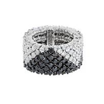roberto_demeglio_18k_white_gold_white_&_black_diamond_cachemire_stretch_ring