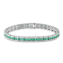 18K_White_Gold_Emerald_and_Diamond_Bracelet
