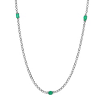 18K_White_Gold_Emerald_and_Diamond_Necklace,_33""