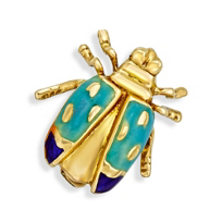 18K_Yellow_Gold_Enameled_Ladybug_Pin