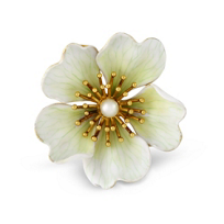 18K_Yellow_Gold_Cultured_Pearl_and_Enamel_Antique_Flower_Brooch