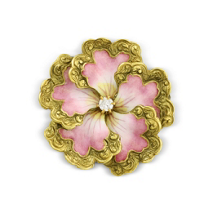 14K_Yellow_Gold_Pink_Enamel_and_Diamond_Flower_Pin