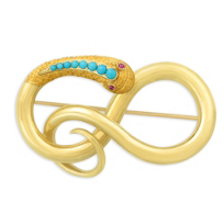 18K_Yellow_Gold_Turquoise_Snake_Brooch