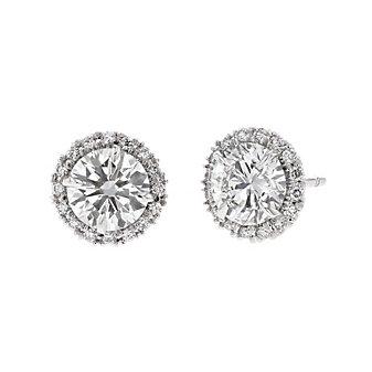 18k white gold kalahari dream diamond halo stud earrings