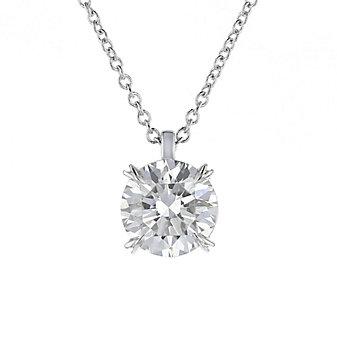 18k white gold kalahari dream diamond pendant, 1.63cttw