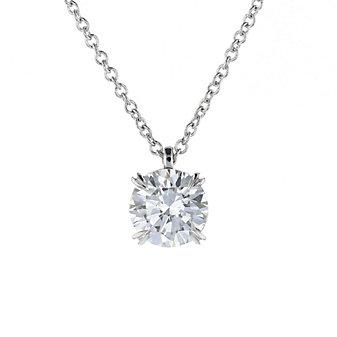 18k white gold kalahari dream diamond pendant, 1.00cttw