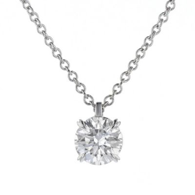18k white gold kalahari dream diamond pendant, 0.58cttw