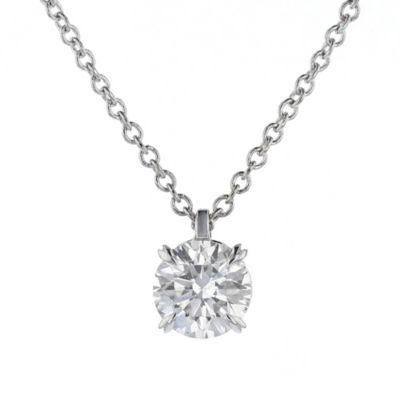18k white gold kalahari dream diamond pendant, 0.58cttw