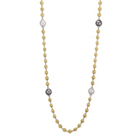 """Marco_Bicego_18K_Yellow_Gold_South_Sea_&_Tahitian_Diamond_Africa_Necklace,_36"""""""