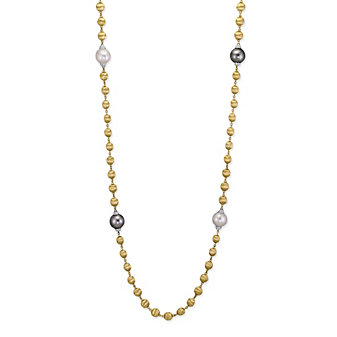 """Marco Bicego 18K Yellow Gold South Sea & Tahitian Diamond Africa Necklace, 36"""""""