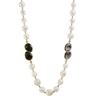 Tara_Pearls_18K_White_Gold_South_Sea_Cultured_Pearl,_Brown_Diamond_&_Quartz_Necklace,_36""