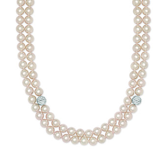 Tara Pearls 18K White Gold Cultured Pearl & Diamond Necklace