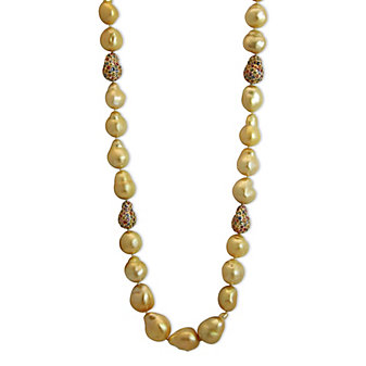Tara Pearls 18K Yellow Gold Golden South Sea Cultured Pearl and Multicolor Sapphire Necklace