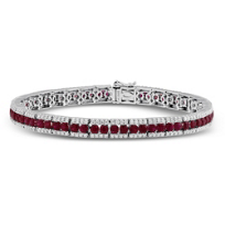 18K_White_Gold_Ruby_and_Diamond_Bracelet