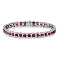18K_White_Gold_Oval_Ruby_and_Round_Diamond_Bracelet