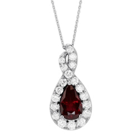 18K_White_Gold_Pear_Shaped_Ruby_and_Diamond_Pendant