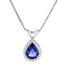 "tara_18k_white_gold_pear_shaped_sapphire_&_diamond_halo_pendant,_18"""
