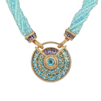 18K_Rose_Gold_Bellarri_Blue_Topaz,_Iolite_and_Diamond_Necklace