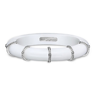 Fred Leighton Prism Winter White Chalcedony Diamond Collar Bangle