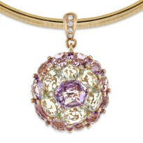 Bellarri_18K_Rose_Gold_Amethyst,_Prasiolite_and_Round_Diamond_Pendant