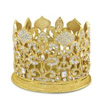 Olivia_Riegel_Gold_Fleur_De_Lis_Crown_Candle_Holder_/_Wine_Coaster