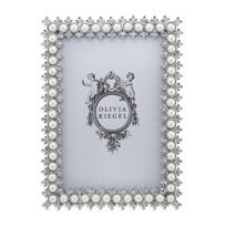 "Olivia_Riegel_Crystal_&_Pearl_Frame,_4""x6"""