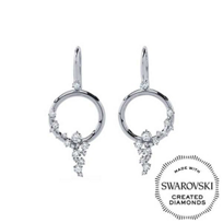 Diama_18K_White_Gold_Signature_Swarovski_Created_Diamond_Circle_Earrings