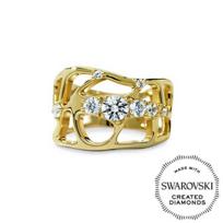 Diama_18K_Yellow_Gold_Swarovski_Created_Diamond_Lace_Ring