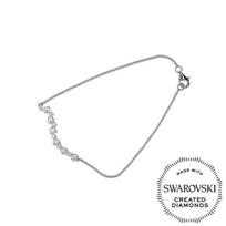 "Diama_18K_White_Gold_Signature_Swarovski_Created_Diamond_Bracelet,_7"""