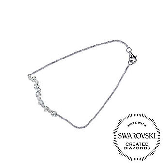 Diama 18K White Gold Signature Swarovski Created Diamond Bracelet, 7""