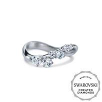 Diama_18K_White_Gold_Signature_Swarovski_Created_Diamond_Cluster_Ring