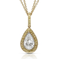 J.B._Star_Platinum_&_18K_Yellow_Gold_Pear_Shape_Diamond_and_Yellow_Diamond_Pendant