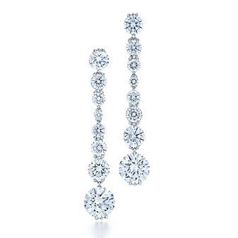 kwiat platinum diamond graduated drop legacy collection earrings