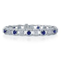J.B._Star_Platinum_Round_Sapphire_&_Diamond_Bracelet