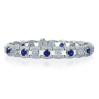 J.B. Star Platinum Round Sapphire & Diamond Bracelet
