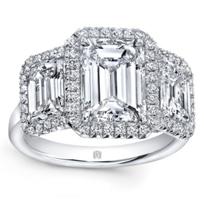 18k_white_gold_emerald_cut_diamond_3_stone_halo_ring