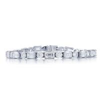 "jb_star_platinum_emerald_cut_&_round_diamond_bracelet,_7"""