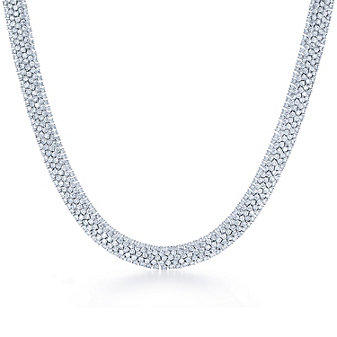 Kwiat 18K White Gold Moonlight Diamond Necklace