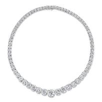 "Platinum_Forevermark_Diamond_Graduated_Necklace,_17"""