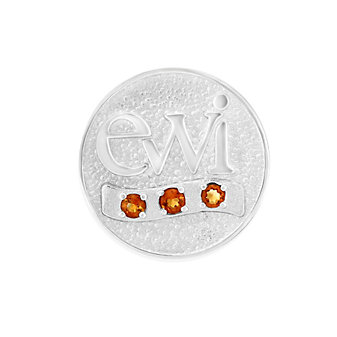 EWI Chapter Board Pin Sterling Silver with Citrines