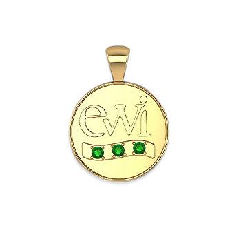 EWI Chapter President Charm 14K Yellow Gold with Tsavorites