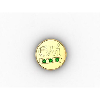 EWI Chapter President Pin 14K Yellow Gold with Tsavorites