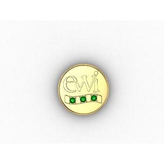 EWI Chapter President Pin 14K Yellow Gold with Tsavorites