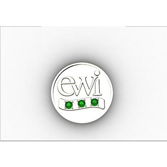 EWI Chapter President Pin 10K White Gold with Tsavorites