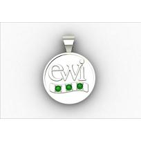 EWI_Chapter_President_Charm_10K_White_Gold_with_Tsavorites