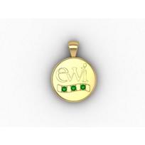 EWI_Chapter_President_Charm_10K_Yellow_Gold_with_Tsavorites