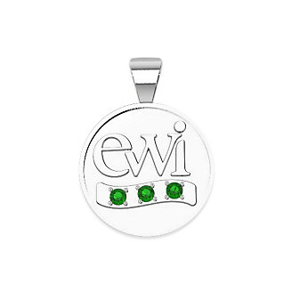 EWI Chapter President Charm 14K White Gold with Tsavorites