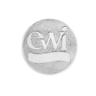 EWI 14K White Gold Pin